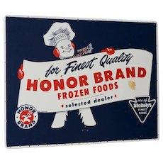 Honor Brand Frozen Foods Advertising Board c.1940s