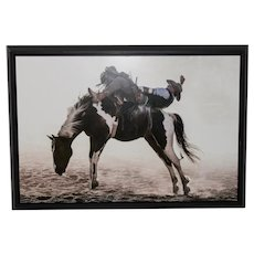 Rodeo Cowboy Photographic Print on Metal