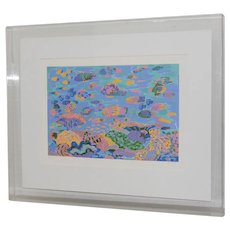 "Ken Done ""Tropical Fish"" Serigraph Signed / Numbered c.1990"