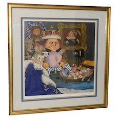 "Charles Bragg ""King of Me's"" Limited Edition Signed Serigraph"