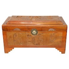 "Chinese ""Good Luck"" Camphor Lined Chest"