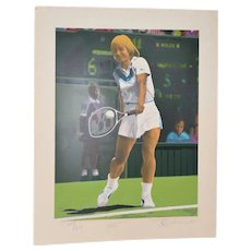 Martina Navratilova Signed Serigraph by Rick Rush c.1985