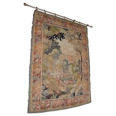Early 20th Century Hand Made French Tapestry