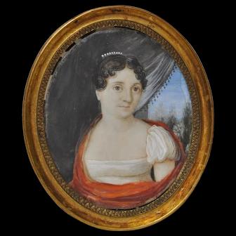 Early 19th Century Classical Italian Portrait Miniature
