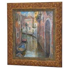 "Manfred Rapp ""Venice, Italy"" Original Oil Painting"
