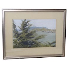 Mount Tamalpais Original Pastel Painting by Clark G. Mitchell c.1983