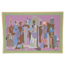 Jean Varda (1893-1971) Limited Edition Pencil Signed Lithograph c.1950s