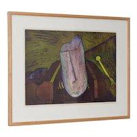 Roland Petersen (California / Denmark) Original Abstract Etching w/ Aquatint c.1970s
