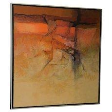 "Alexander Nepote ""Arizona Radiant Cliff"" Modernist Landscape c.1970"