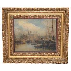 aec8165f7e33 Fine 19th Century Nautical View of the Thames