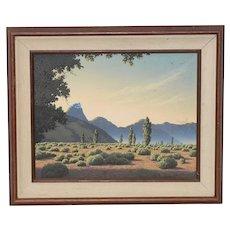 Michael Sarraille Rocky Mountain Landscape Oil Painting