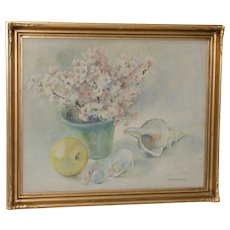 Vintage Still Life Watercolor by A. Stevenson c.1930s