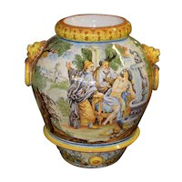 Mid 20th Century Hand Painted Portuguese Jardiniere c.1950