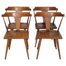 Set of Four Paul McCobb Planner Group Solid Maple Dining Chairs c.1950s