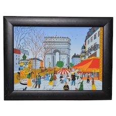 Vintage Paris Arc de Triomphe Silkscreen c.1980s