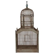 Early 20th Century Wire Bird Cage / Finch Cage