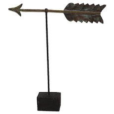 19th Century American Copper Folk Art Weathervane Arrow Directional