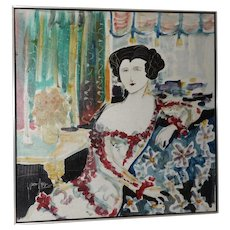 Yves Ledcu (American, 20th c.) Portrait of an Elegant Woman