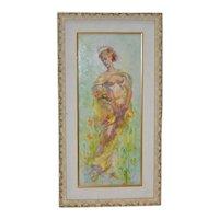 """Alexander Canedo (1902-1978) """"Spring"""" Original Oil Painting c.1940s"""