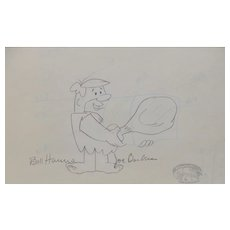 Barney Rubble - Original Animation Art Signed by Hanna & Barbera c.1993