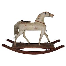 19th Century American Folk Art Rocking Horse