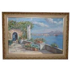 Mount Vesuvius Landscape Oil Painting
