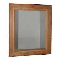 Vintage American Pitch Pine Framed Mirror c.1950
