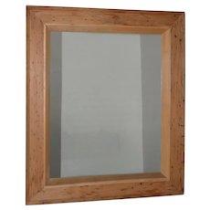 Vintage American Pitch Pine Framed Mirror c.1950