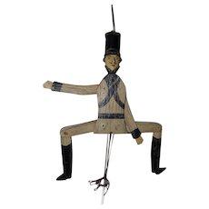 19th Century American Folk Art Dancing Toy Soldier