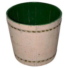 19th Century Painted Bucket American Folk Art