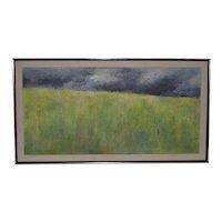 "Joseph Barber (American, b.1915) ""Wheatfield"" Original Oil Painting c.1960"