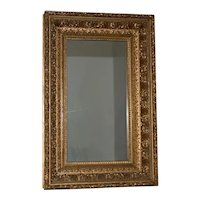 19th Century Carved, Gilded & Gesso Frame with Mirror c.1880s