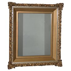 Elaborate 19th Century Carved & Gilded Frame with Mirror