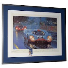 "Nicholas Watts ""The Power And The Glory"" Tribute Lithograph to Porsche & Ferrari Racing Duels"