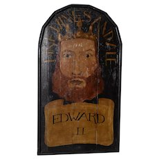 "19th Century ""Edward II"" English Pub Sign"