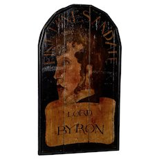 "19th Century ""Lord Byron"" English Pub Sign"
