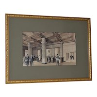Photographic Print Early 20th Century Illustration of a Hotel Bar Interior