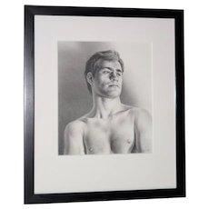 Fine Graphite Portrait of a Young Man