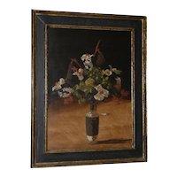 """Geoffrey Lewis (American, 20th c.) """"A Formal Affair"""" Still Life Oil Painting c.1969"""