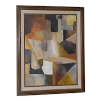 Vintage Abstract Oil Painting c.1970s