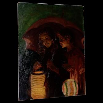 Jacob Weinles (Poland, 1870-1938) Original Oil Painting c.1920