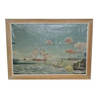 Early 20th Century American Maritime Oil Painting