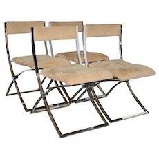 Set of Fourteen Marcello Cueno Mobel Italia Folding Chairs c.1970s