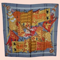 Hermes Multi-Colored Silk Scarf with Banners & Flags