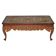 Early to Mid 20th Century Anglo Indian Inlay Coffee Table