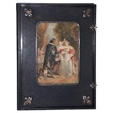 Fine 19th Century Watercolor & Sterling Invitation Art