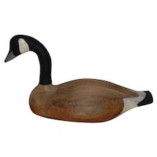 Large Carved Duck Decoy