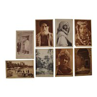 Set of Eight Lehnert & Landrock North Africa Photo Postcards c.1910