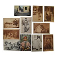 Lot of Eleven Lehnert & Landrock North Africa Photo Postcards c.1910