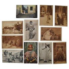 Lot of Eleven Lehnert & Landrock North Africa Photo Postcards c.1910